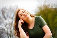 woman in happy mood