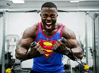 Man doing a muscle training